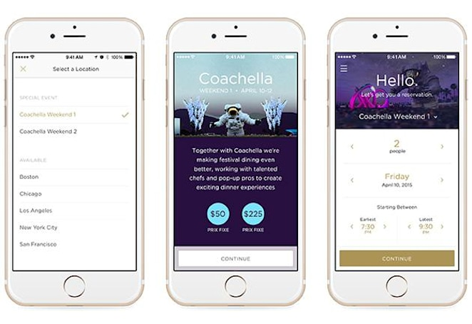 Reserve wants you to order food at Coachella with your phone
