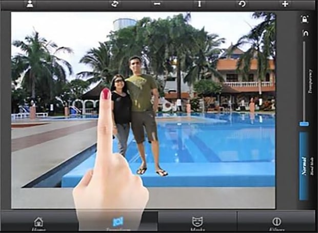 Superimpose for iOS lets you blend and superimpose your photos