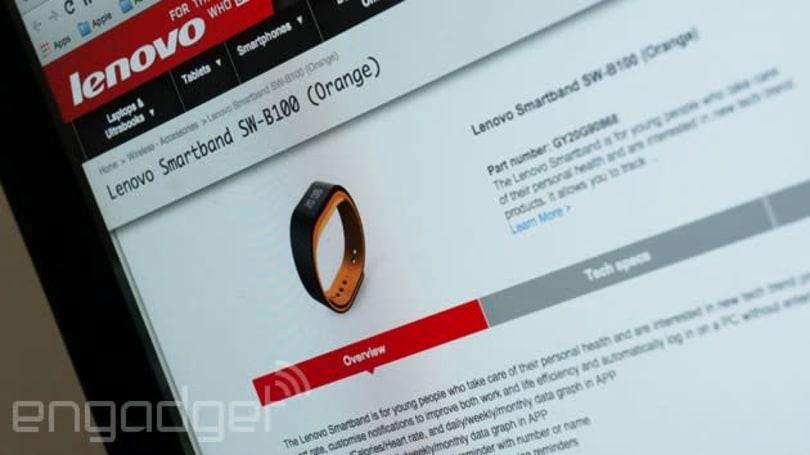 Lenovo's me-too Smartband will unlock your PC