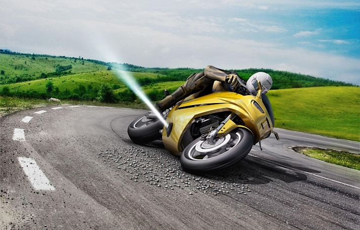 Bosch jet thruster blasts your motorcycle out of a skid