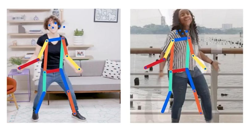 Google AI experiment compares poses to 80,000 images as you move