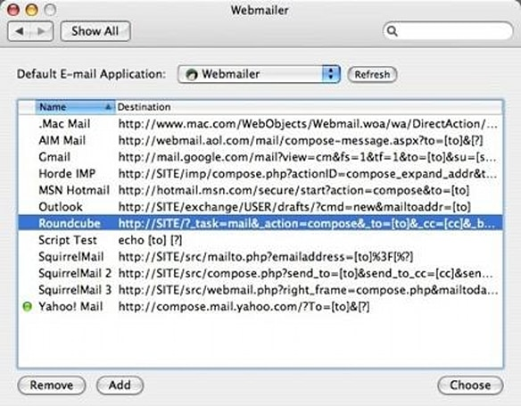 Webmailer - Make Webmail your default Email