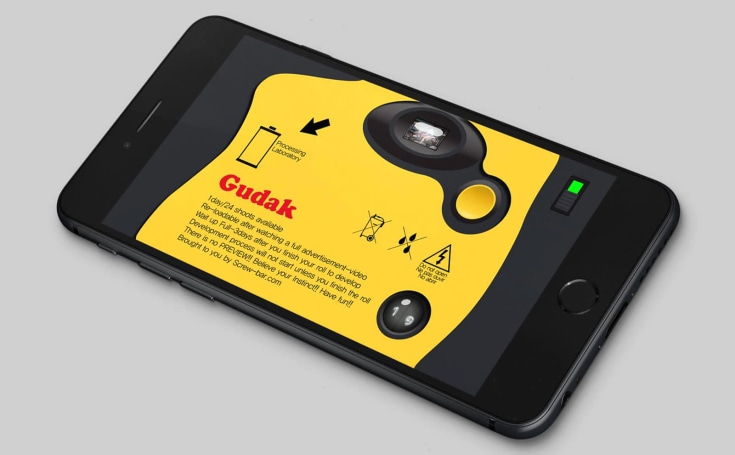 Gudak turns your $1,000 iPhone into a $20 disposable camera