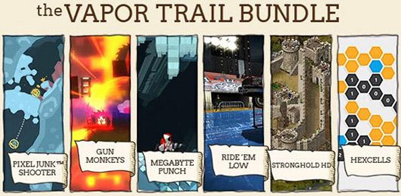 Indie Royale collects PixelJunk Shooter, Stronghold HD in Vapor Trail bundle