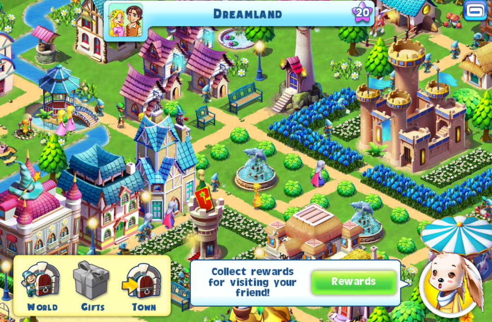 Fantasy Town on iOS: Build a kingdom for magical creatures big and