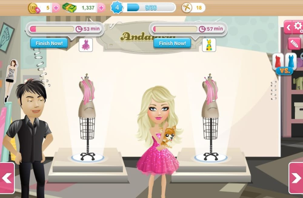 Make The Runway Your Own In Fashion Designer On Facebook Aol Games