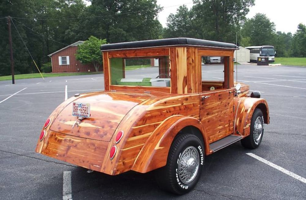 Wooden car up for auction on ebay...and it\'s a runner - AOL