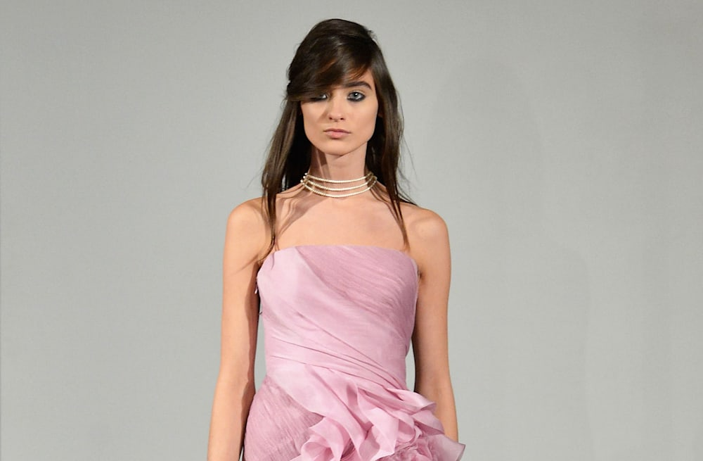 5ecc59082 Fall bridal 2014: Only Vera Wang could send all PINK gowns down the runway  -- and nail it