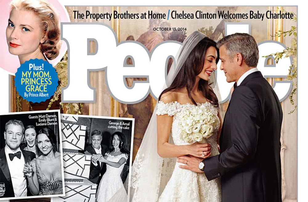 George Clooney and Amal Alamuddin cover 'People': See her
