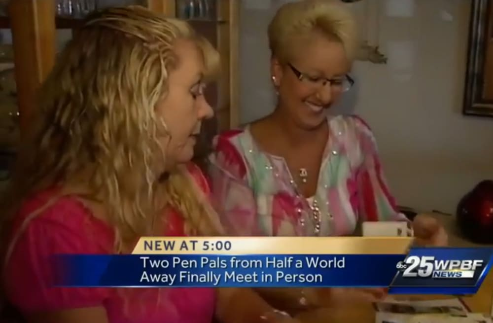 Pen pals finally meet in person after 37 years living half a