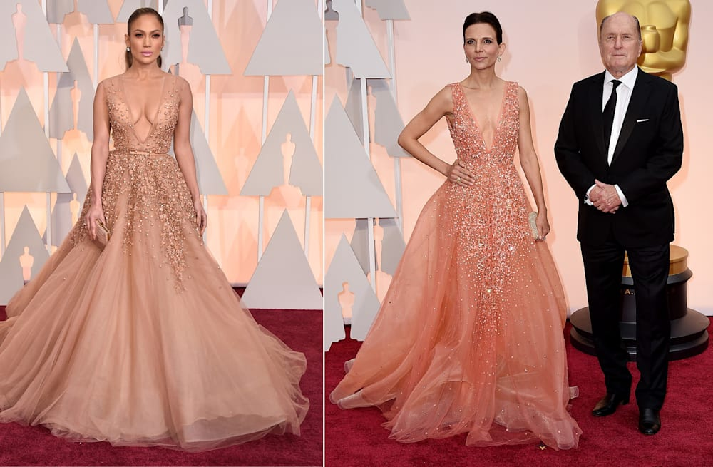 Jennifer Lopez and Robert Duvall\'s wife rock the same dress on the ...