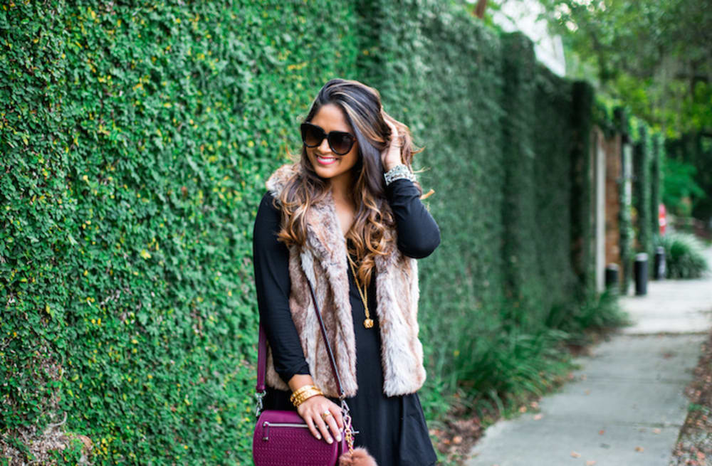 16821fa2f Street style tip of the day: Faux fur vest - AOL Lifestyle