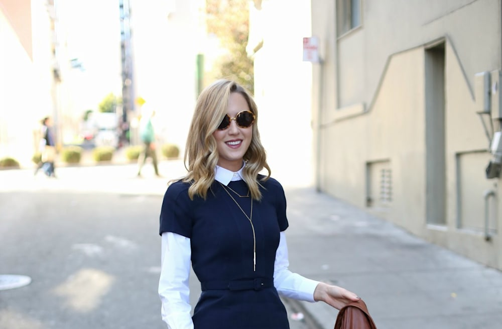 83d4f55276 Street style tip of the day  Sheath dress - AOL Lifestyle