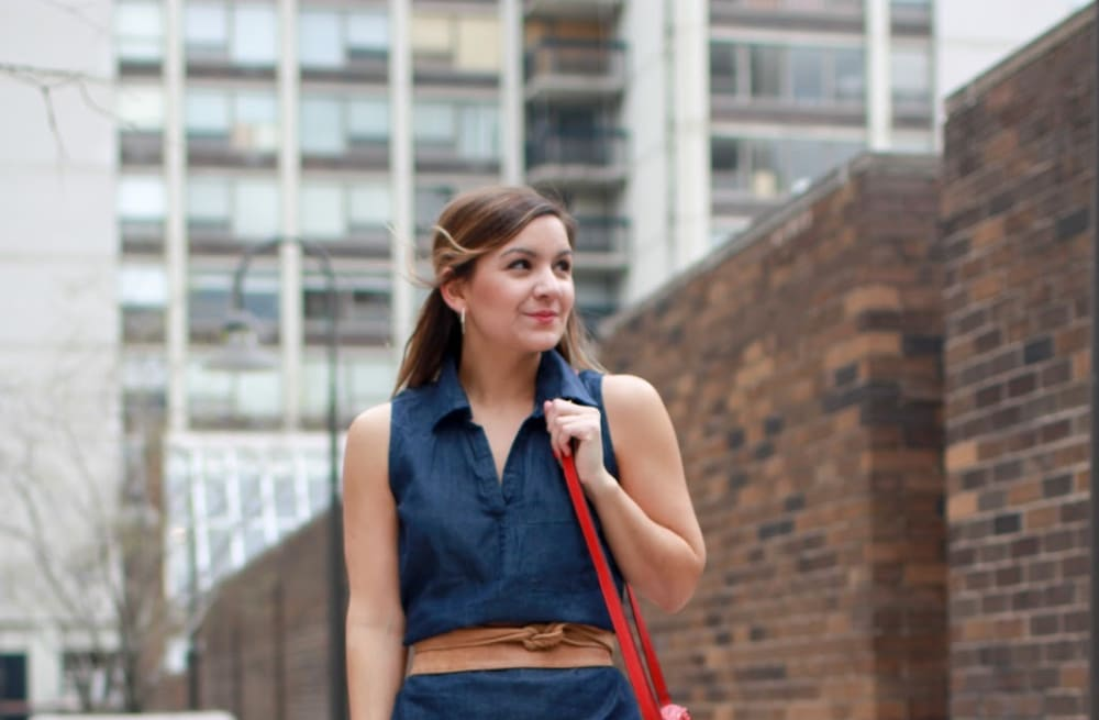 9f313620a5170f Street style tip of the day  Why you need a denim dress - AOL Lifestyle