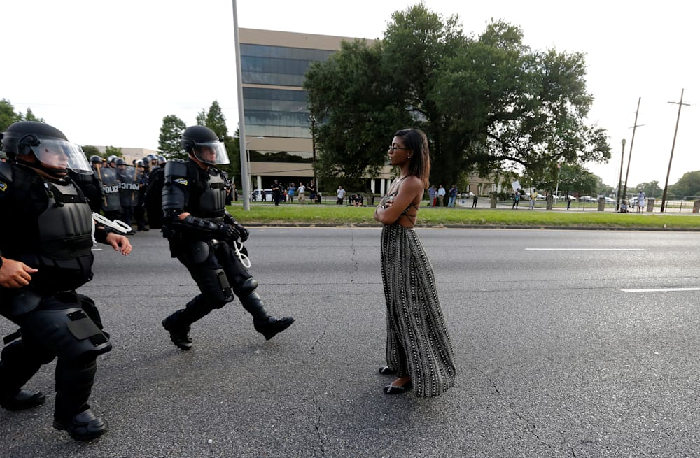 3f179a67d1 Slideshow preview image. 7 PHOTOS. Story behind iconic  BlackLivesMatter  photo. See Gallery. Aol.com