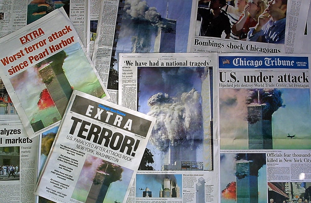 How did newspapers cover the attacks of September 11, 2001