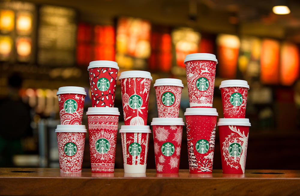 3f3a6c45771 Starbucks unveils brand-new red holiday cups -- and there's more ...