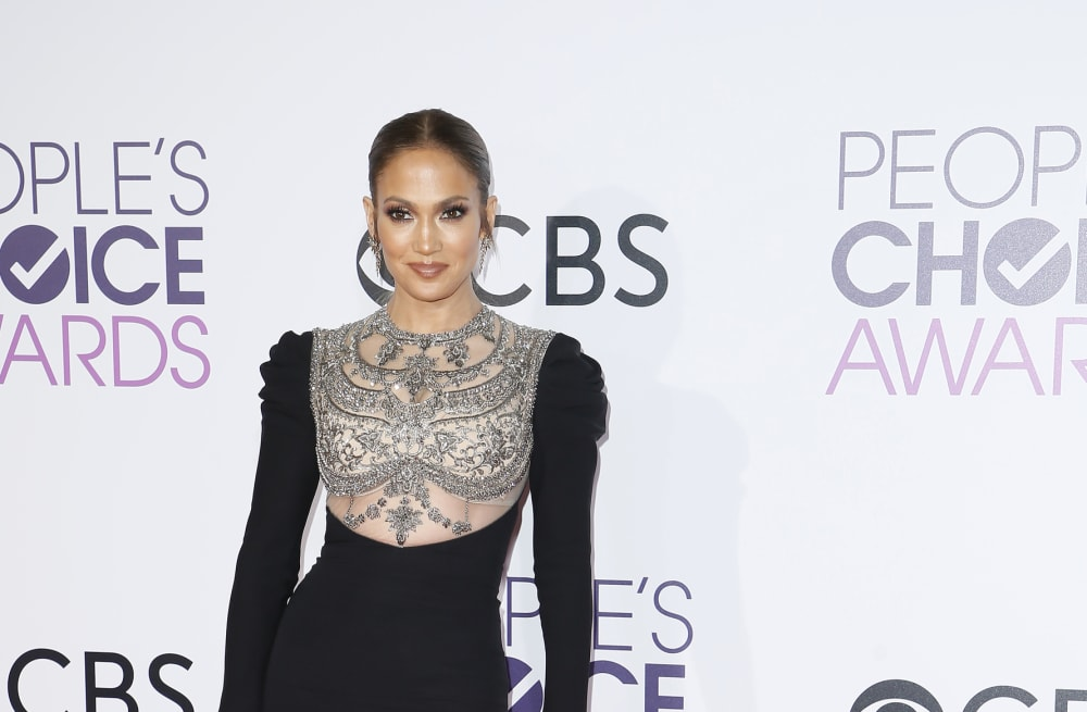 7b27699078d Jennifer Lopez turns heads at the 2017 People's Choice Awards in a  sparkling gown