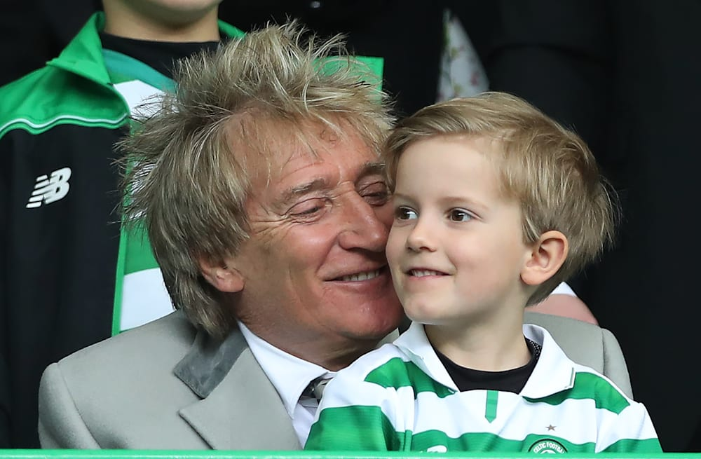 Rod Stewart takes youngest sons to soccer game: See the