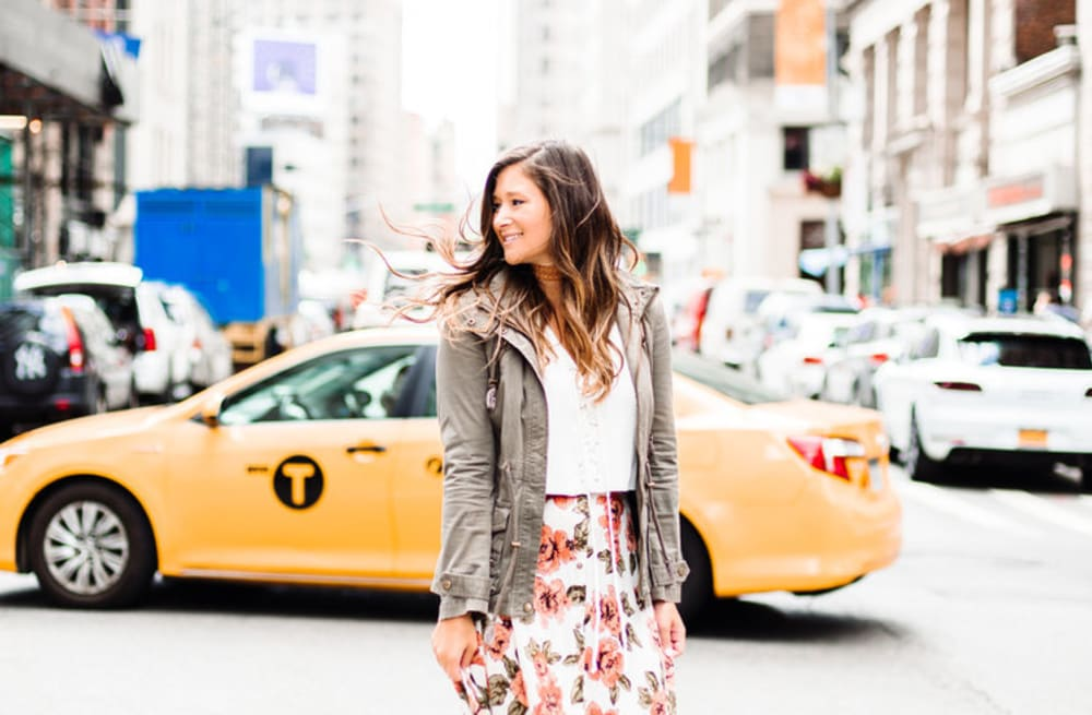 5591ae3ca8 Street style tip of the day: Floral midi skirt - AOL Lifestyle