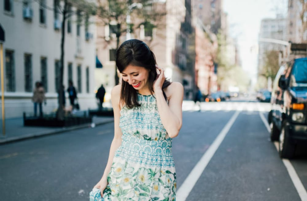 44c0cc8210 Street style tip of the day  Halter maxi dress - AOL Lifestyle