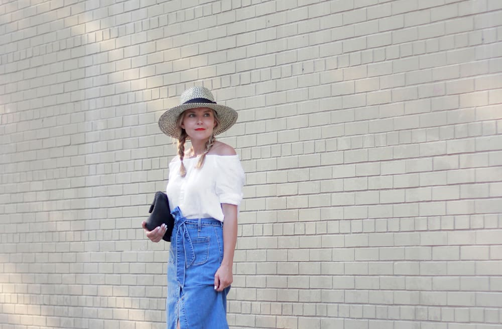Street style tip of the day: Denim midi skirt - AOL Lifestyle