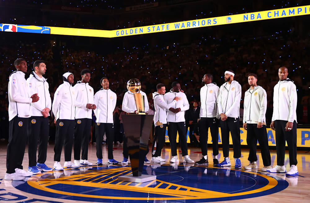e36efe2b52fe Slideshow preview image. 11 PHOTOS. Golden State Warriors receive championship  rings