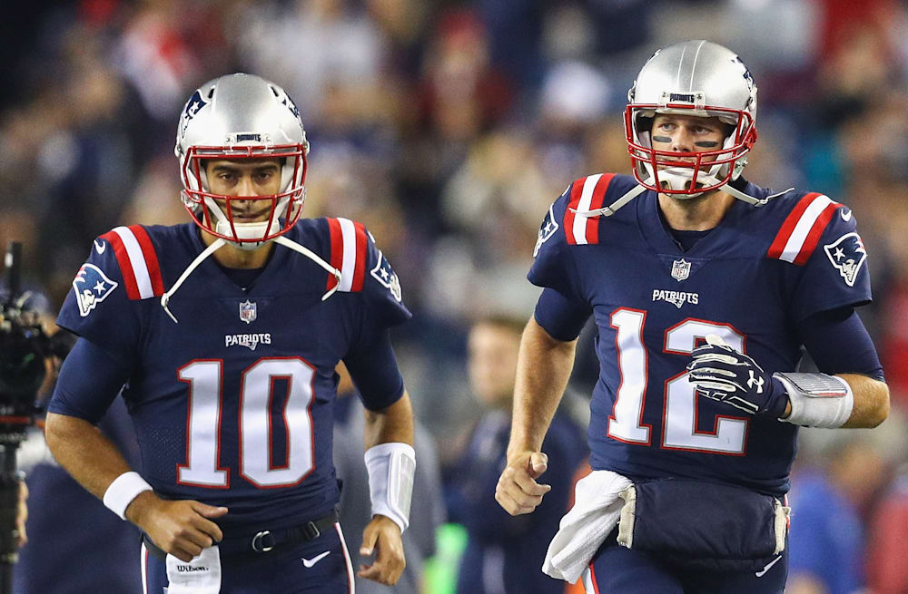 sneakers for cheap 44793 206c5 49ers' Jimmy Garoppolo believed he was better than Tom Brady ...