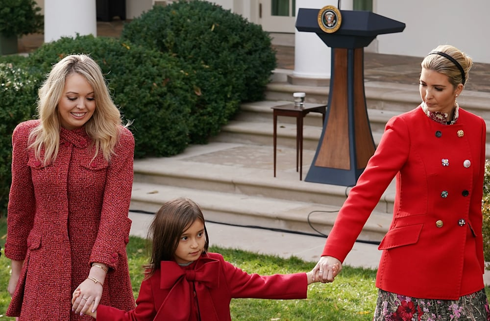 68422e7fcf People were distracted by Tiffany Trump s bare legs at White House ...