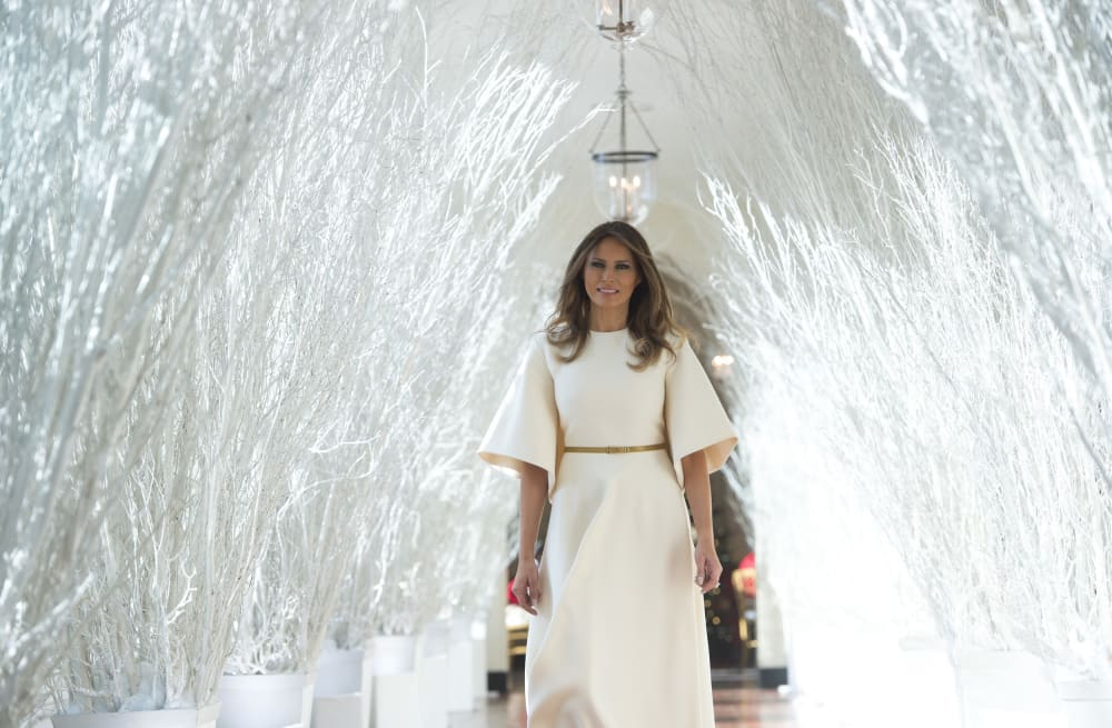 slideshow preview image 19 photos melania trump unveils first trump christmas - Melania Trump Christmas Decorations