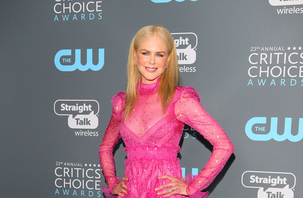 Nicole Kidman sparkles in hot pink, see-through gown at the 2018 ...