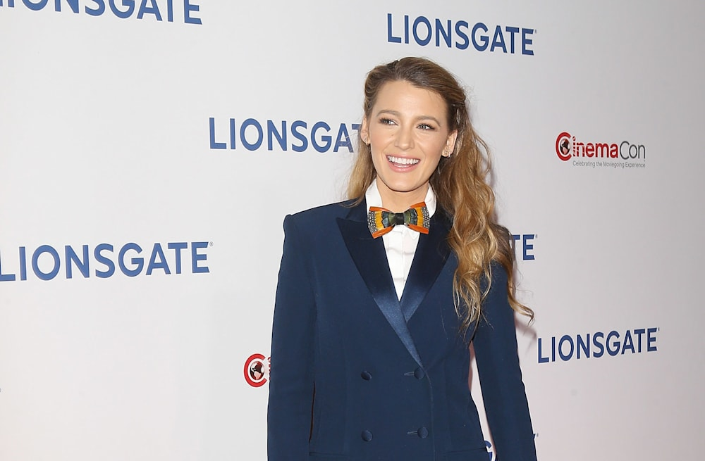 bd825da14b79 CinemaCon 2018  Blake Lively rocks a bow tie while Tiffany Haddish ...