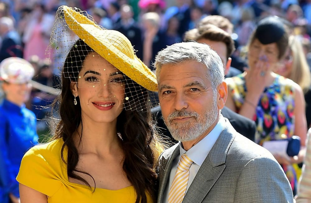 798eaa76c24 Slideshow preview image. 7 PHOTOS. Amal and George Clooney at the royal  wedding