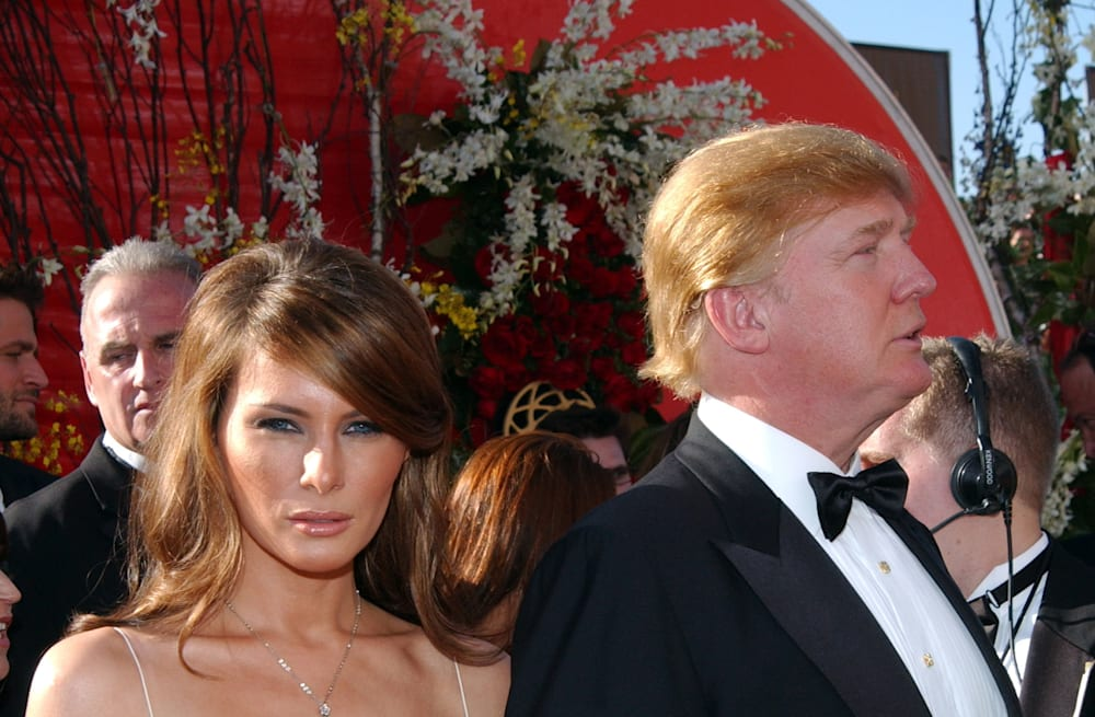 Melania Trump went to the Emmys twice -- and stunned both