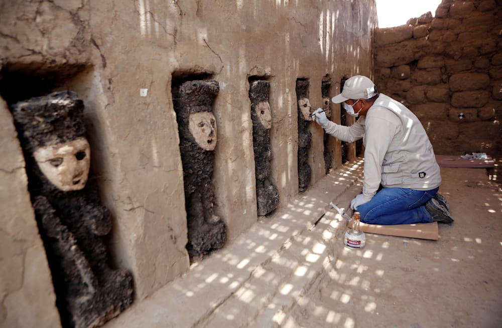6f02fd1f 800-year-old wooden statues unearthed in Peru - AOL News