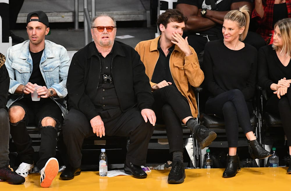 Jack Nicholson And Son Ray Sit Courtside To Cheer On La Lakers Aol Entertainment Bella hadid flaunts cleavage in near wardrobe malfunction after dating rumors. jack nicholson and son ray sit