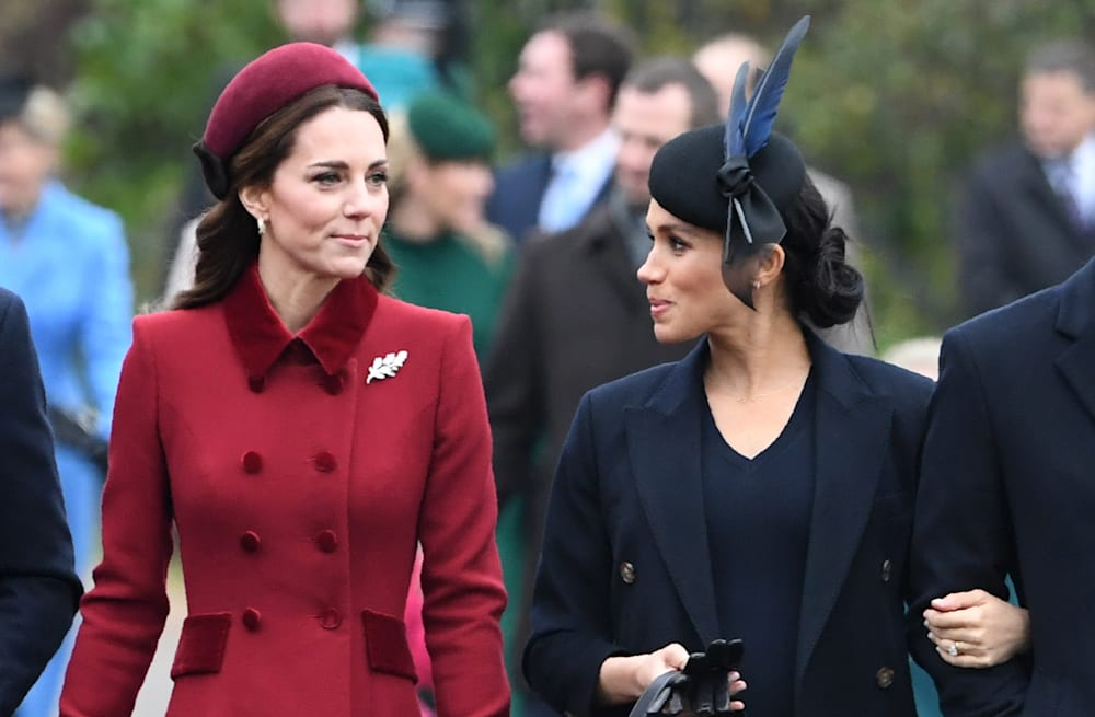 Royal Family Christmas.Duchess Kate And Duchess Meghan Attend Christmas Services