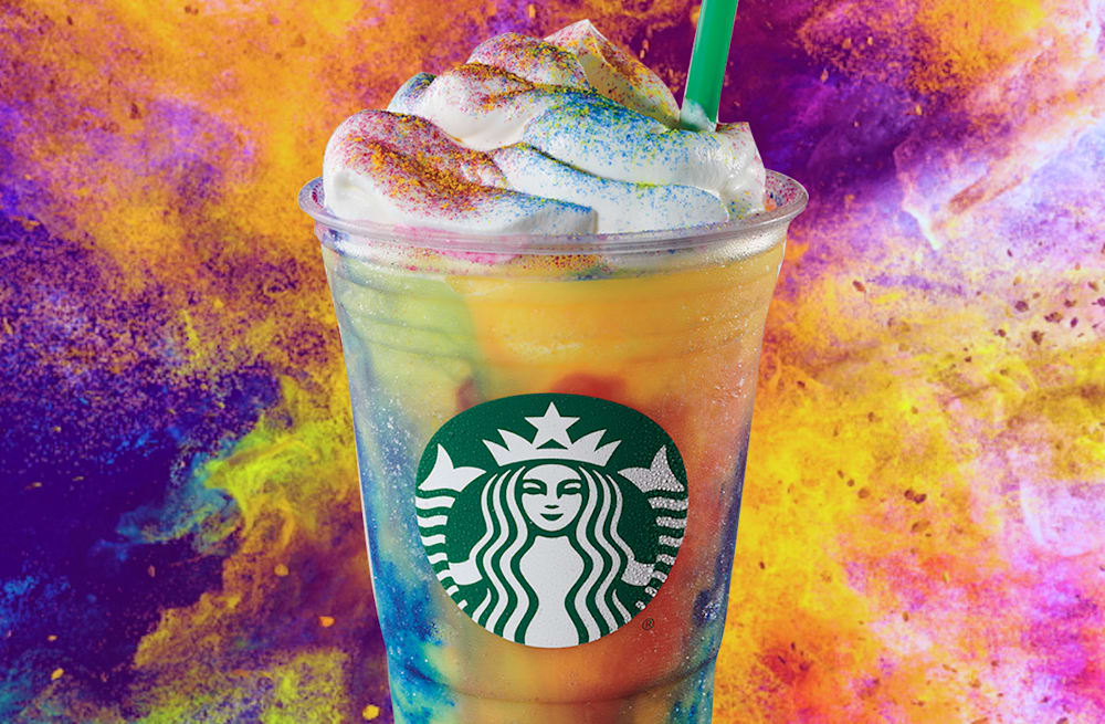 New Starbucks Tie-Dye Frappuccino is officially here, but only for a few  days - AOL Lifestyle