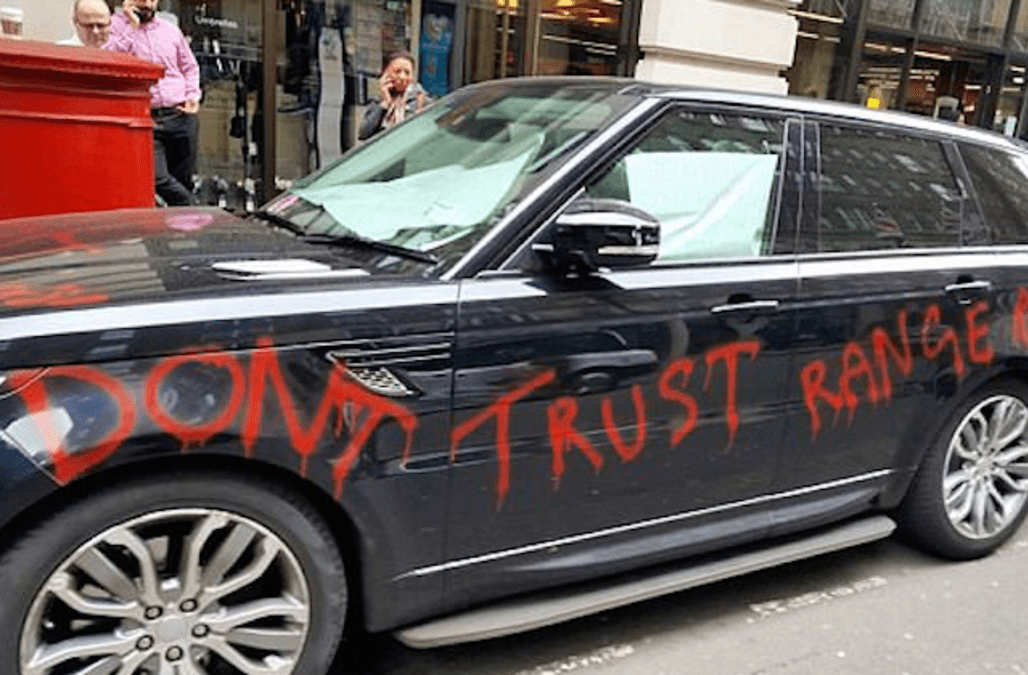 Who Owns Range Rover >> Furious Range Rover Owner Vandalises His Own Car Aol