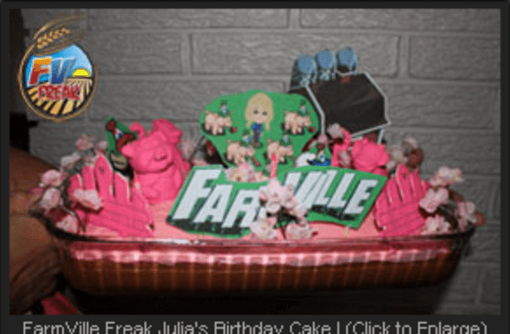 Farmville Birthday Cakes Baked By Fans For Fans Aol News