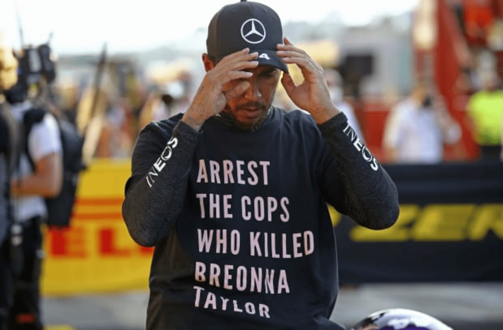 Lewis Hamilton Set For Collision Course With F1 Bosses Over Political T Shirt Aol
