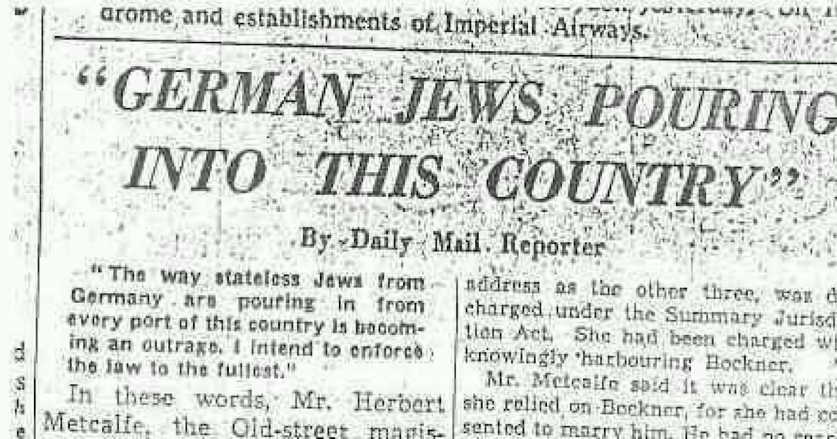 Gally Mail: Daily Mail Headline From 1938 Draws Comparisons With