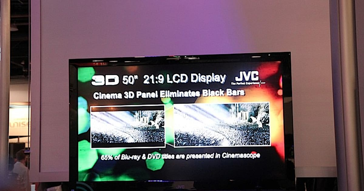 jvc 50 inch 21 9 3d hd tv prototype. Black Bedroom Furniture Sets. Home Design Ideas