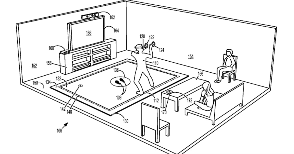 Microsoft patent application describes a vibrating floor mat for VR 1