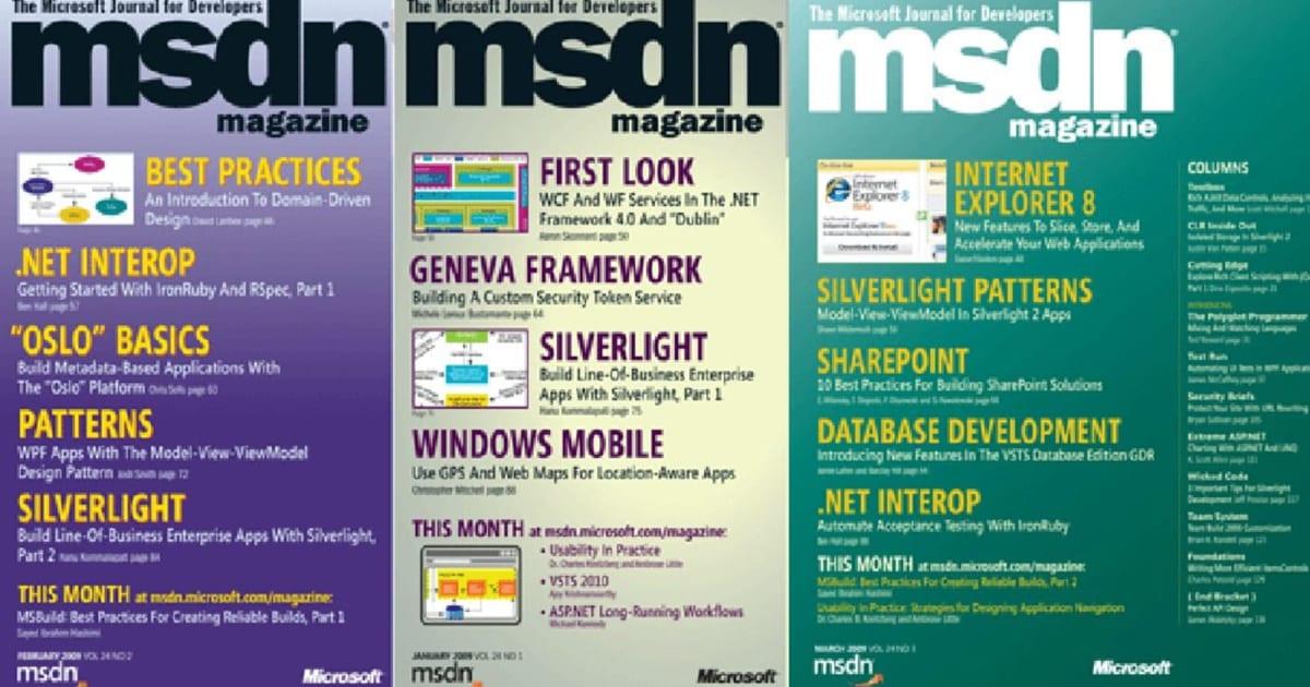 Microsoft is closing its long-running MSDN developer magazine 1