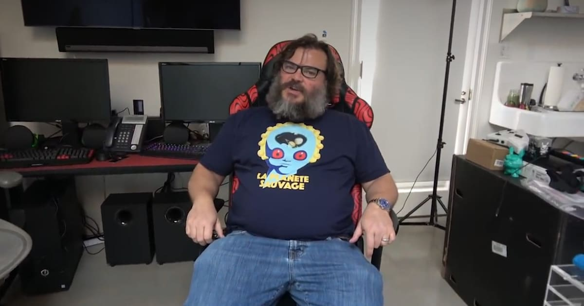 Jack Black Takes on PewDiePie in YouTube Channel Debut