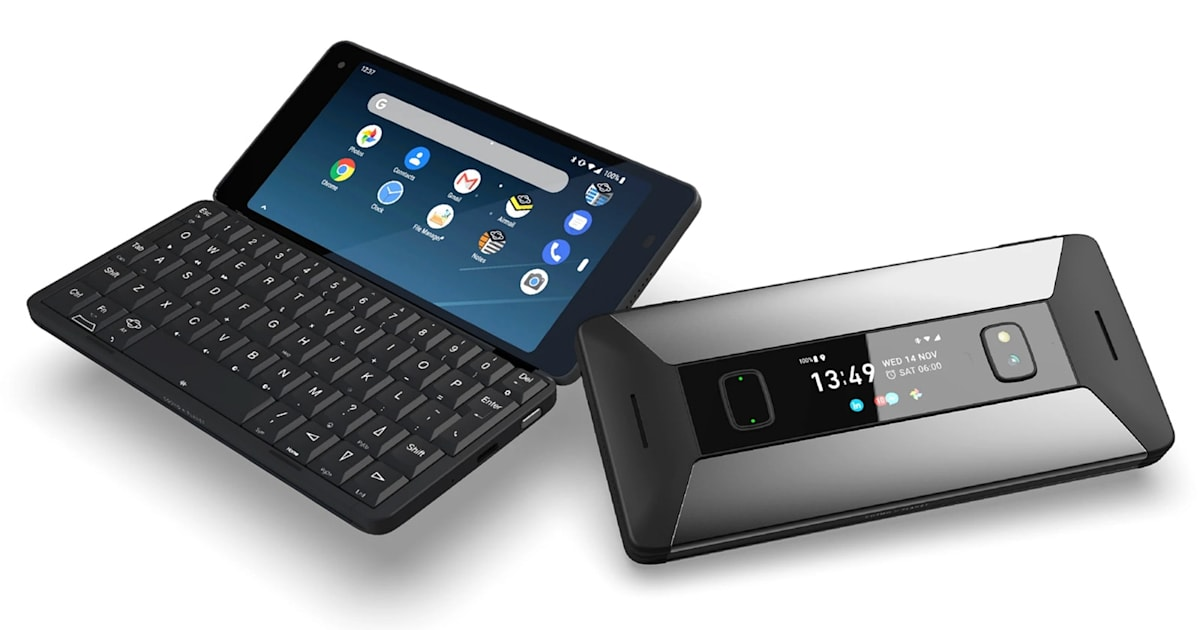 Planet Computers' clamshell phone can dual-boot Android and Linux