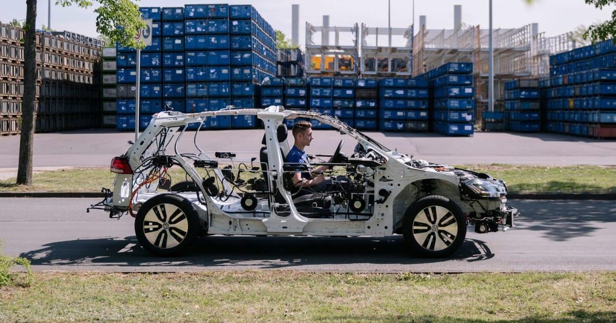 VW's eGon is a driveable, educational EV skeleton 1