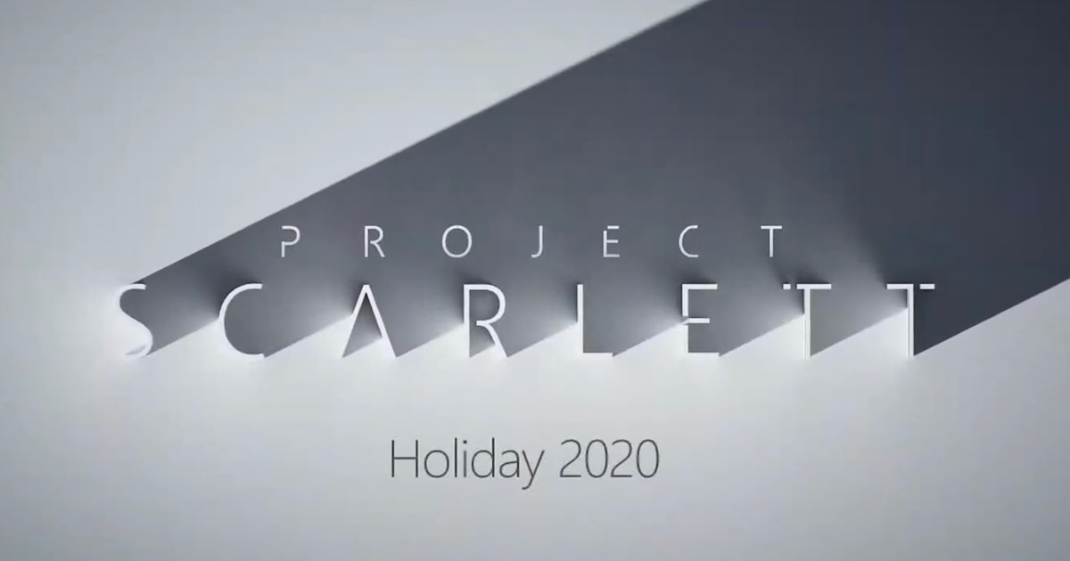 Microsoft's 'Project Scarlett' Xbox arrives holiday 2020