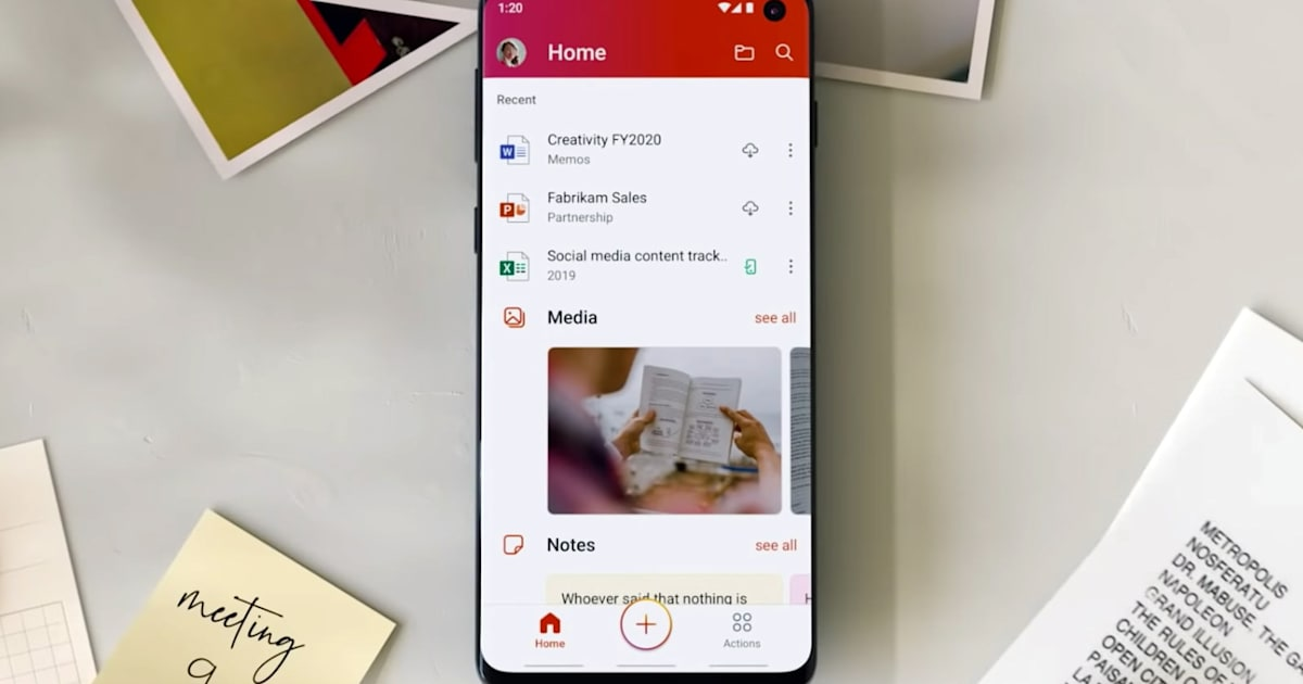 Microsoft releases its unified Office app for Android